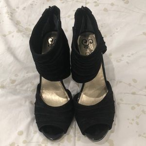 Seychelles high heels suede shoes. Size 10